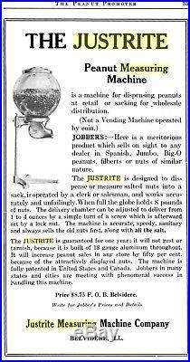 1915 Vintage Justrite Peanut Vending Machine