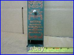 1917 National Sweet Chocolate Candy Vintage Vending Machine, Wall Hanging Penny