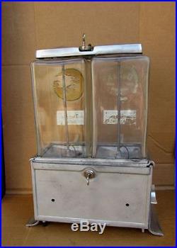 1920's Vintage Log Cabin Gumball Peanut Vending Machine