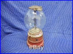 1920's Vintage National Novelty Peanut Machine with Tray Dish Penny One Cent