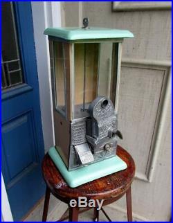 1920's Vintage Porcelain Master Gumball Peanut Goose Neck Vending Machine