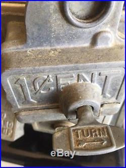 1923 VINTAGE Norris MASTER GUMBALL PEANUT VENDING MACHINE Original Lock & Key
