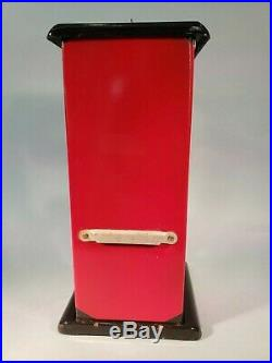 1923 Vintage Antique Black And Red Penny Master Gumball Peanut Vending Machine