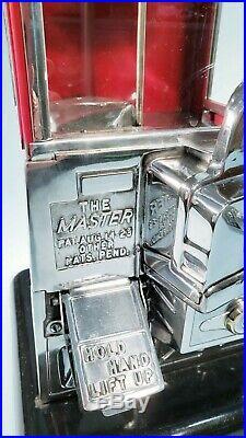 1923 Vintage Antique Master Penny Nickel Gumball Peanut Vending Machine
