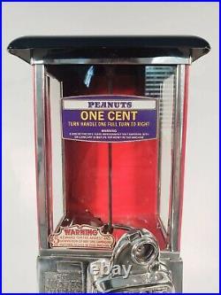 1923 Vintage Antique Penny Master Gumball Peanut Vending Machine