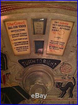 1927 VERY RARE VINTAGE O. D. Jennings Gum Ball & Fortune Teller Trade Stimulator