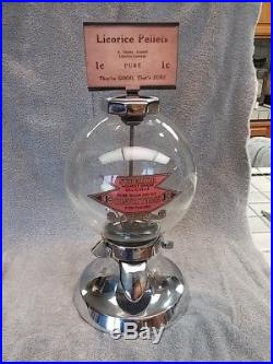 1930 Vintage 1 Cent Simpson Vendor Gumball Bulk Vending Machine Coin Op Penny