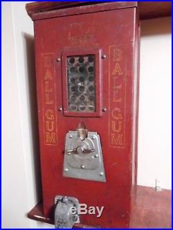 1930's Vintage Advance Ball Gum Wall Hanging Vending Machine, Nice Gumball