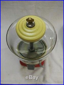 1930's Vintage Atlas Ace Penny Coin Op Bulk Vending Gumball Candy Peanut Machine