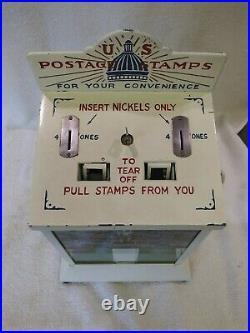 1930's Vintage Northwestern Nickel Coin Op Postage Stamp Vending Machine