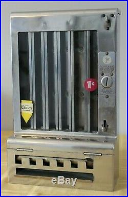 1930s Vintage Mills Automatic Gum Tab Vending Machine 1 Cent Penny w Weights Key