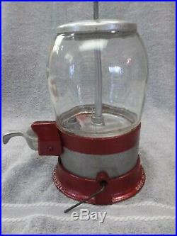 1934 Vintage Davis Penny Little Nut Coin Op Vending Machine Gumball Candy