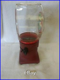 1935 Vendex 520 Fishbowl Gumball Machine Vintage Vending Coin Op Penny Original