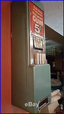 1940's Vintage Rowe Wall Mount Candy Vending Machine