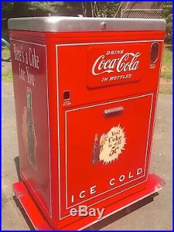 1950's Vintage Restored Coca-Cola 5 Cent Vendo 23 COKE Vending Machine-MUST SEE