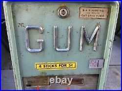 1950s 5 Cent Gum Vending Machine Robco Corp Vintage
