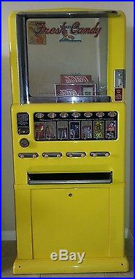 1950s Vintage Stoner Candy Machine Powder Coated Yellow