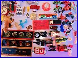 1,032PC Vintage Cracker Jack Toy Charm Prize LOT Vending Machine Advertising