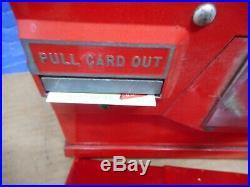 1 Cent Model Oak Premiere Gumball Baseball Card Vintage Vending Machine 1950's