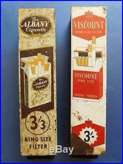 2X Vintage steel Viscount & Albany Cigarette Dispensing Vending Machines 1970s