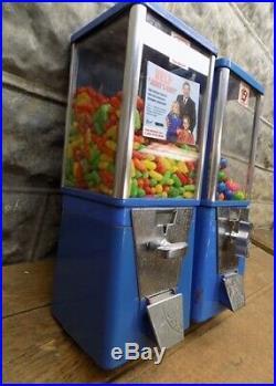 2 Astro Vending Machines Gumball Candy Peanuts Bubble Gum Vendor Vintage