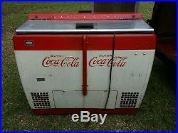 (2) Coca Cola Vintage 1950's Coolers One Single Door and One Double Door