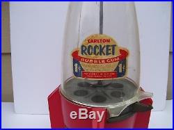 2 Vintage Rocket Ship Counter Display Bubble Gum Machines