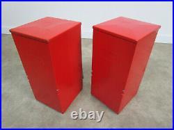 2 Vintage Toy'n Joy Five Ten Cent Capsule Vending Candy Machine Pair