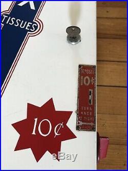 37 VINTAGE ANTIQUE KLEENEX TISSUES 10 cent COIN-OP VENDING MACHINE KEY AMAZING