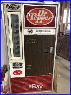 3 Vendo Vintage Bottle Can Soda Pop Vending Machines 70s Coke, Pepsi, Dr Pepper