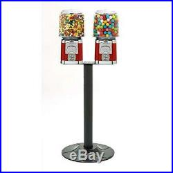 43.5 Vintage Candy Gumball Vending Dispenser Machine Double Stand Holder Rack