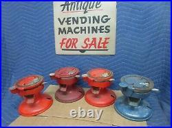 4 Columbus Model A parts machines, vintage penny peanut vending cast iron