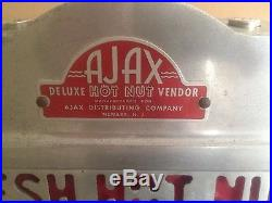 Antique Ajax 1947 Hot Nut Machine Coin Operated Vintage USA Made