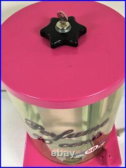 ANTIQUE COIN OP PERFUME VENDING MACHINE, NICE, 42 tubes of vintage perfume nips