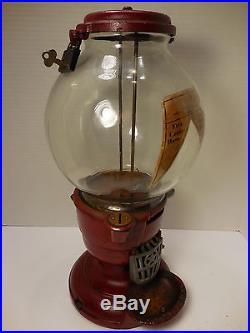 Antique / Vintage Columbus Vending Machine Candy Gumball Peanut Patent 1908