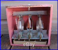 ANTIQUE VINTAGE Coin Operated Perfume Cologne Vending Machine Vendor Dispenser
