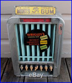 ANTIQUE VINTAGE Deco Rowe Wrigleys Gum Lifesavers Vendor Coin Op Vending Machine