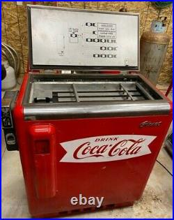 ANTIQUE Working Vintage coke slider chest cooler vending machine -Glad I GBV-50