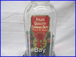 ATLAS MIDGET, BETTY BAKER, LITTLE WONDER VINTAGE GUMBALL MACHINE withtray