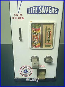 Awesome Vintage Antique 5 Cent Gum Vending Machine Lifesavers Wrigley Amazing