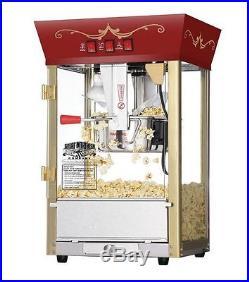 Antique Commercial Theater Style Popcorn Machine Maker Popper 8 Oz Vintage Movie