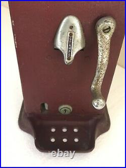 Antique Schermack 4 Cent Automatic Stamp Vending Machine Dispenser No Key USA