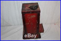 Antique Vintage 1930's Ohio Book Match 1 Cent Penny Metal Vending MachineWorks