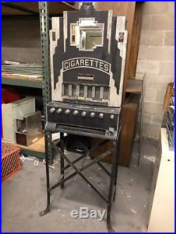 Antique Vintage 1930s Rowe Cigarette Machine Deco
