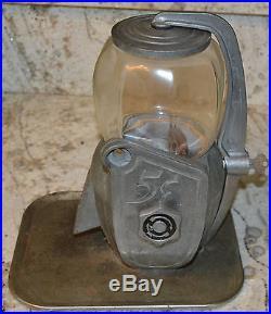 Antique Vintage Art Deco Peanut Gumball Atlas Bantam Machine 5 Cent Works Key