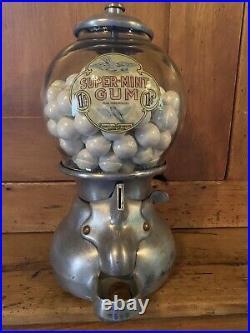 Antique/Vintage Bluebird Gumball Machine With Key