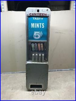 Antique Vintage Canteen Mint 5 cent vending machine Breath Mint Tasty Candy