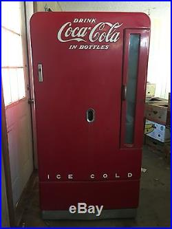 Antique Vintage Coke Coca Cola Vending Machine 1948 Era