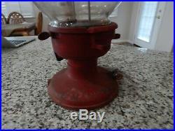 Antique Vintage Columbus Gumball/Peanut Machine With Slug Rejector