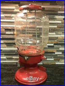 Antique Vintage Columbus Model A Gumball Vending Machine Octagonal Globe